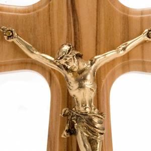 Crucifijo madera de olivo, cuerpo dorado s2