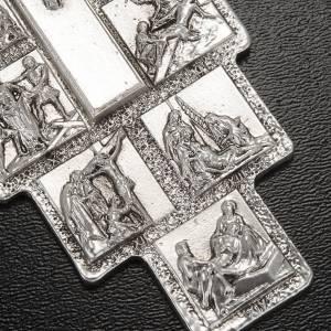 Crucifijo plateado 14 estaciones Vía Crucis y Cristo Resu s3