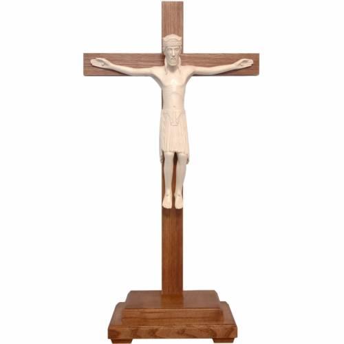 Crucifix à poser de Altenstadt 52cm bois ciré s1