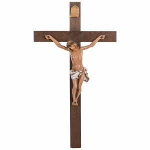 Crucifix croix bois 54x30 corps pvc Fontanini s1