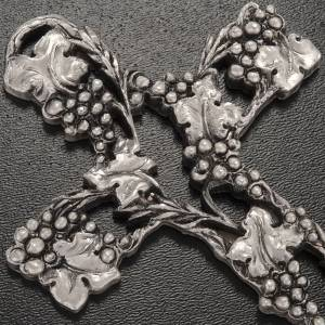 Crucifix doré raisins 13 cm s2