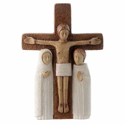 Crucifix en pierre, la compassion s1