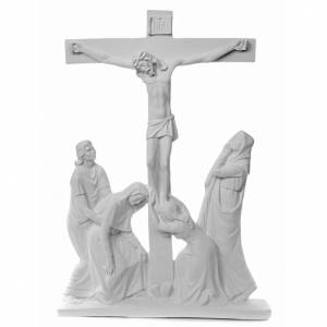 Funeral products: Crucifixion Scene bas-relief in reconstituted carrara marble