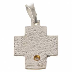 Cruz alfa omega con zircón de plata 800 s2