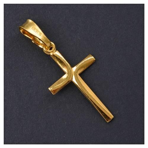 Cruz dorada de plata 800 de 2,5x1,5cm s2