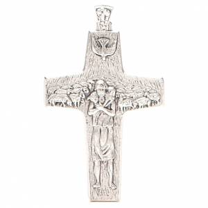Artículos Obispales: Cruz pectoral Buen Pastor metal 10x7 cm