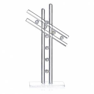 Regalos y Recuerdos: Cruz Vidrio Murano Blanca 16 cm alt.