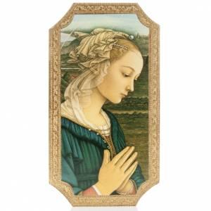 Cuadro madera contorneada Virgen del Lippi s1