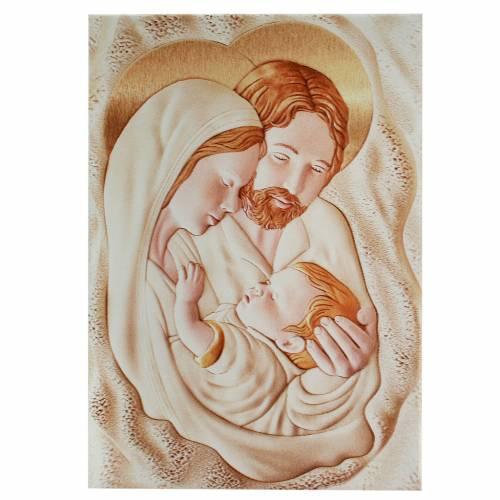 Cuadro Rectangular Sagrada Familia 8 x 12 cm s1