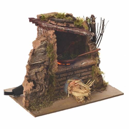 Cucina padella fuoco effetto fiamma corrente 12x14x10 cm s2