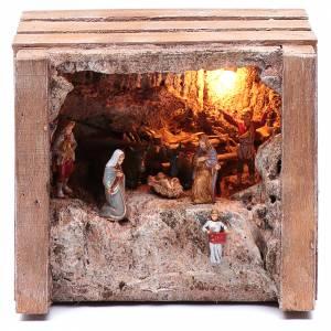 Casas, ambientaciones y tiendas: Cueva con comedero en caja 15x20x15 cm