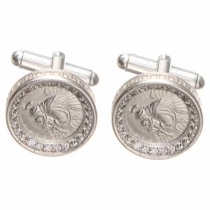 Cufflinks Silver 800 rhodium-plated, St. Anthony of Padua 1,7cm s1