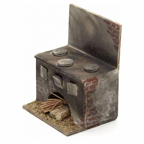 Cuisinière en miniature crèche Napolitaine 8x6,5x5 s3