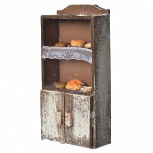 Cupboard for nativity with bread and cheese 13x7x4cm assorted models s2