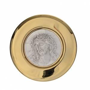Custode Ecce Homo laiton relief étain diamètre 8 cm s1