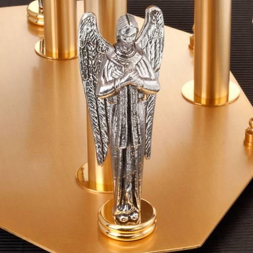Trono con angeles y símbolos evangelistas s3