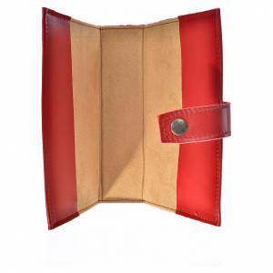 Daily prayer cover burgundy leather Holy Family s3