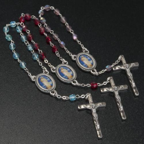 Decade rosary with glass beads, Our Lady s2