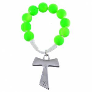 Rosari decina: Decina fimo verde tau