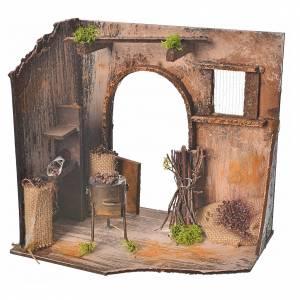 Décor crèche de noël atelier des marrons 20x14x20cm s1