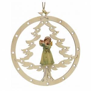 Décorations sapin bois et pvc: Décoration sapin Noël ange avec flute