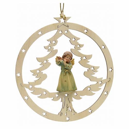 Décoration sapin Noël ange avec flute s1