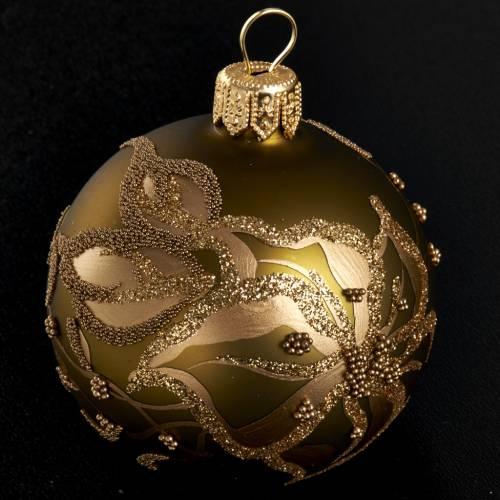 Decoro Albero Natale, palla dorata vetro 6 cm s2