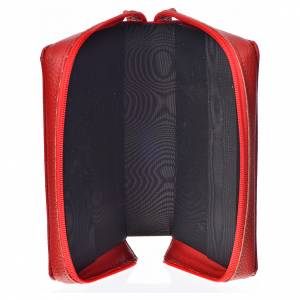 Divine Office covers: Divine office cover in red bonded leather with image of the Divine Mercy