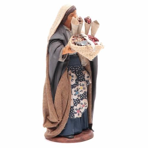 Donna con sacco di semi in mano 14 cm presepe napoletano s3