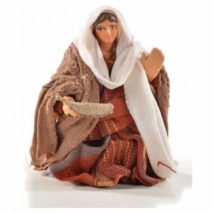 Donna mendicante 6 cm presepe Napoli stile arabo s1