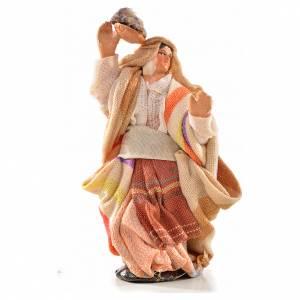 Donna panni in testa 6 cm presepe Napoli stile arabo s1
