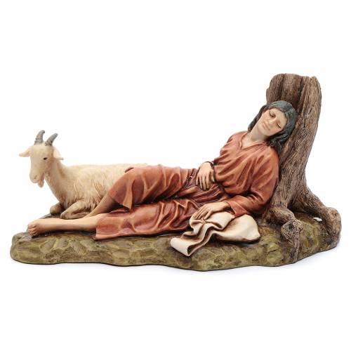 Dormente con capra 15 cm resina Moranduzzo s1