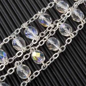 Crystal beads rosaries: Double-chain crystal rosary