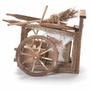 Dustman cart, Neapolitan Nativity 12x20x8cm s2