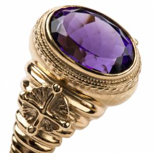 Ecclesiastical Ring made of silver 800 with Amethyst s6