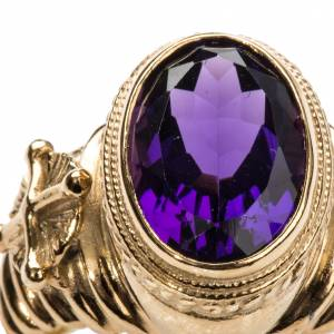 Ecclesiastical Ring made of silver 800 with Amethyst s5