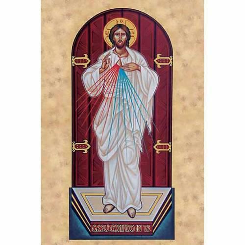 Estampa Jesús Mmisericordioso ícono s1
