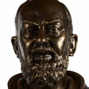 Estatua de San Pío pintada en color bronce 175cm s9