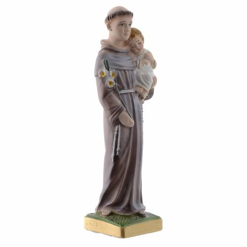 Estatua San Antonio de Padua 20 cm. yeso nacarado s3