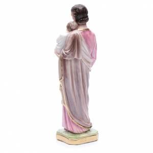 Imágenes de yeso: Estatua San José con niño 30 cm. yeso nacarado.