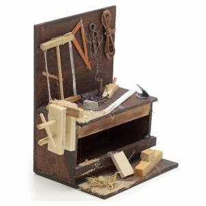 Etabli du menuiser en miniature crèche Napolitaine 10x10x7 cm s2