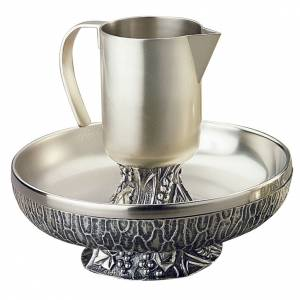 Ewers and Basins: Ewer with basin, Molina in silver brass