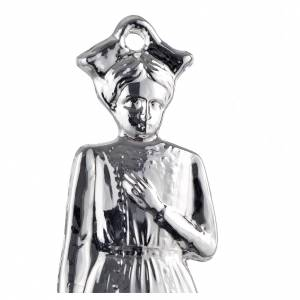 Ex-Voto: Ex-voto, young girl in sterling silver or metal, 15cm