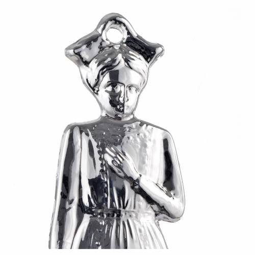 Ex-voto, young girl in sterling silver or metal, 15cm s2