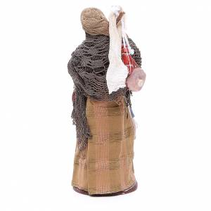 Femme avec charcuterie 14 cm crèche Naples s4