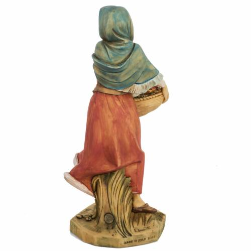 Femme avec fruits crèche noel 52 cm Fontanini s6