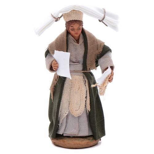 Femme avec mouchoirs 10 cm crèche Naples s1
