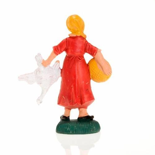 Femme avec poule 8 cm s2
