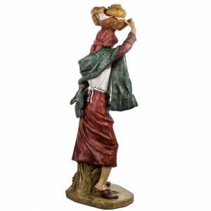 Femme et enfant crèche Fontanini 125 cm résine s6