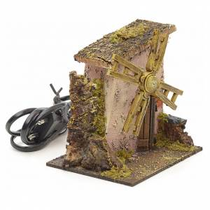 Ferme avec moulin à vent pour crèche 13x12x11 cm s2